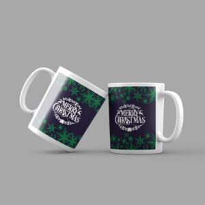 merry-christmas-green-background-coffee-mug