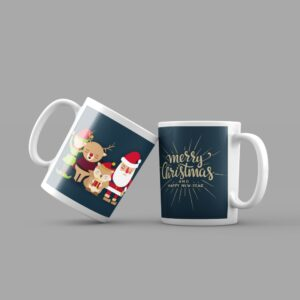 santa-clause-with-reindeer-coffee-mug
